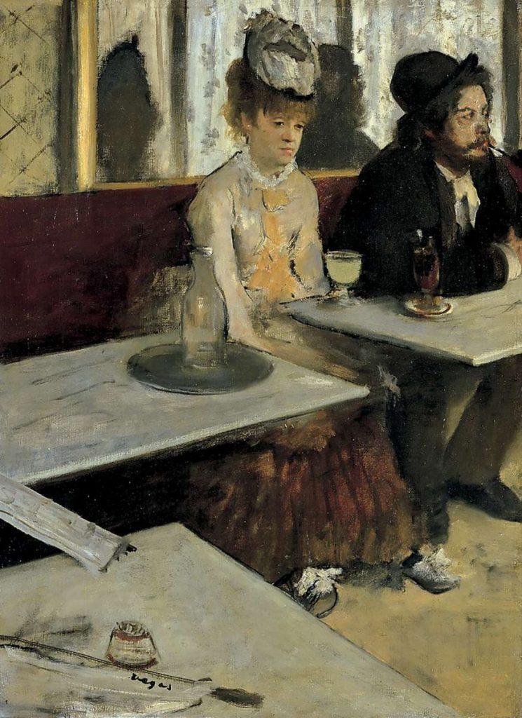 Painting of Edgar Degas, The Absinthe Drinker
