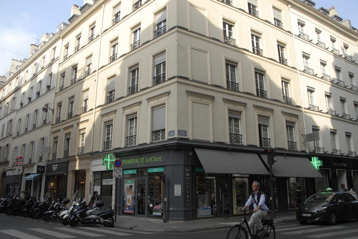 RUE VIGNON; PARIS; LECLERC PHARMACY; PROUST;TRAVELBYART;