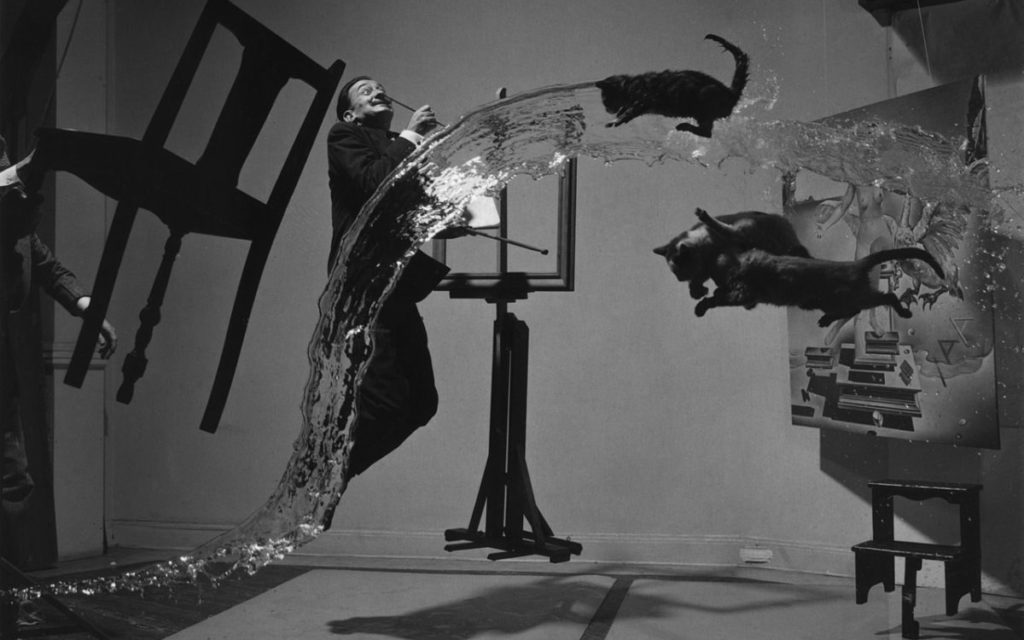 Surrealistic portrait of Salvador Dali by Philippe Halsman – Dali Atomicus