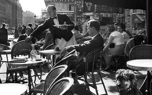 Terrace of café Deux Magots