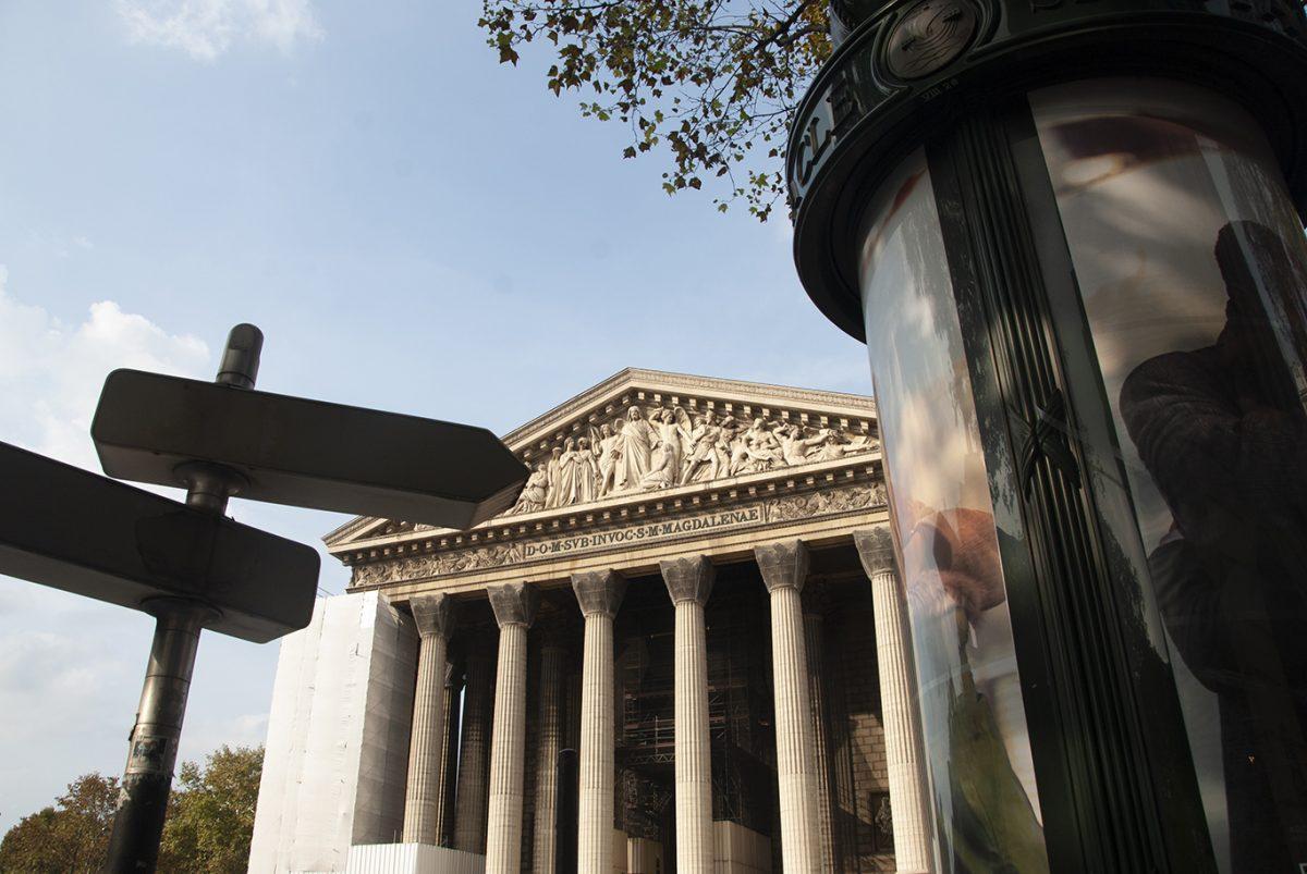 MADELEINE CHURCH; PARIS; FACADE;