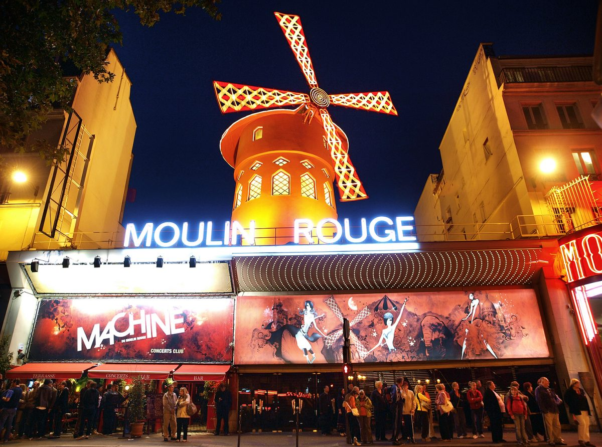 MOULIN ROUGE; PARIS; CABARET; MONTMARTRE; EDITH PIAF;